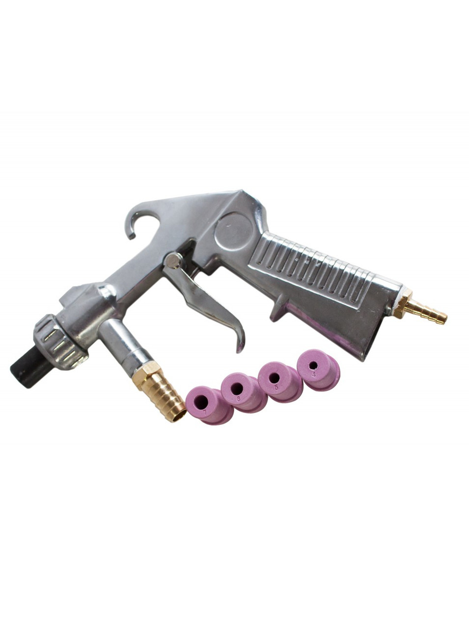 Пистолет пескоструйный пневматический Boro (с розовыми соплами).