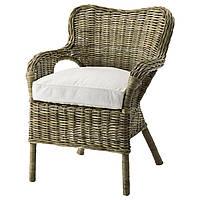 IKEA BYHOLMA (398.982.71) Кресло, серое, белое