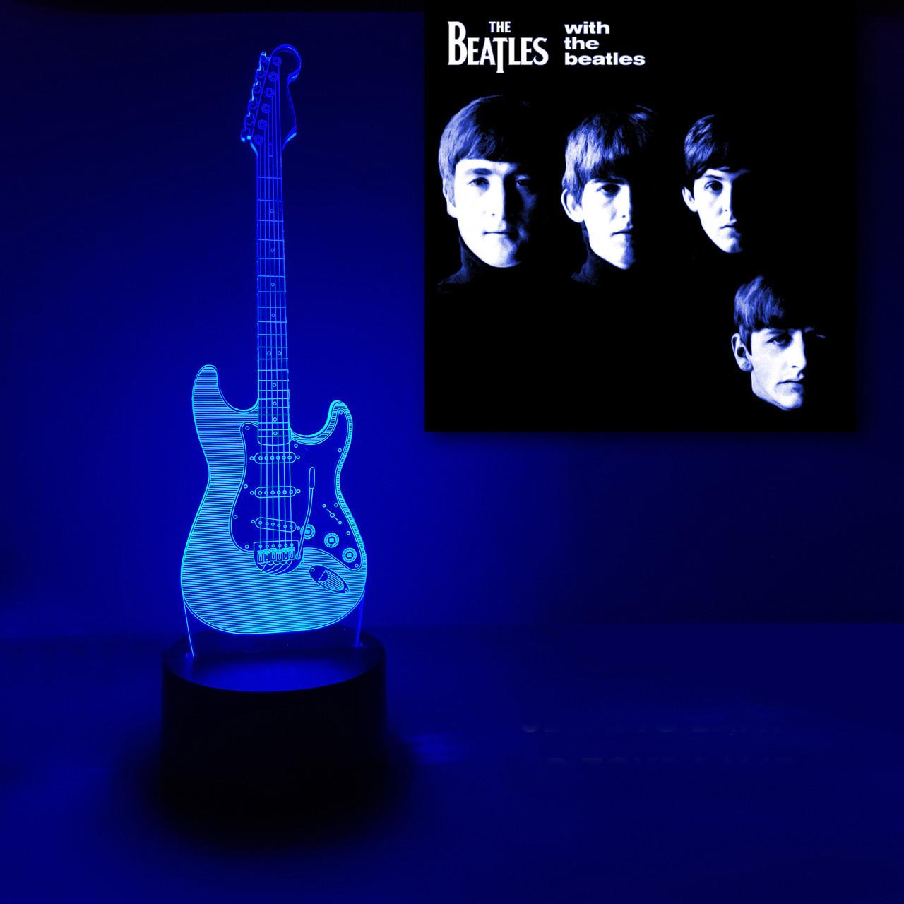 """3D светильник """"Гитара"""" 3DTOYSLAMP"""