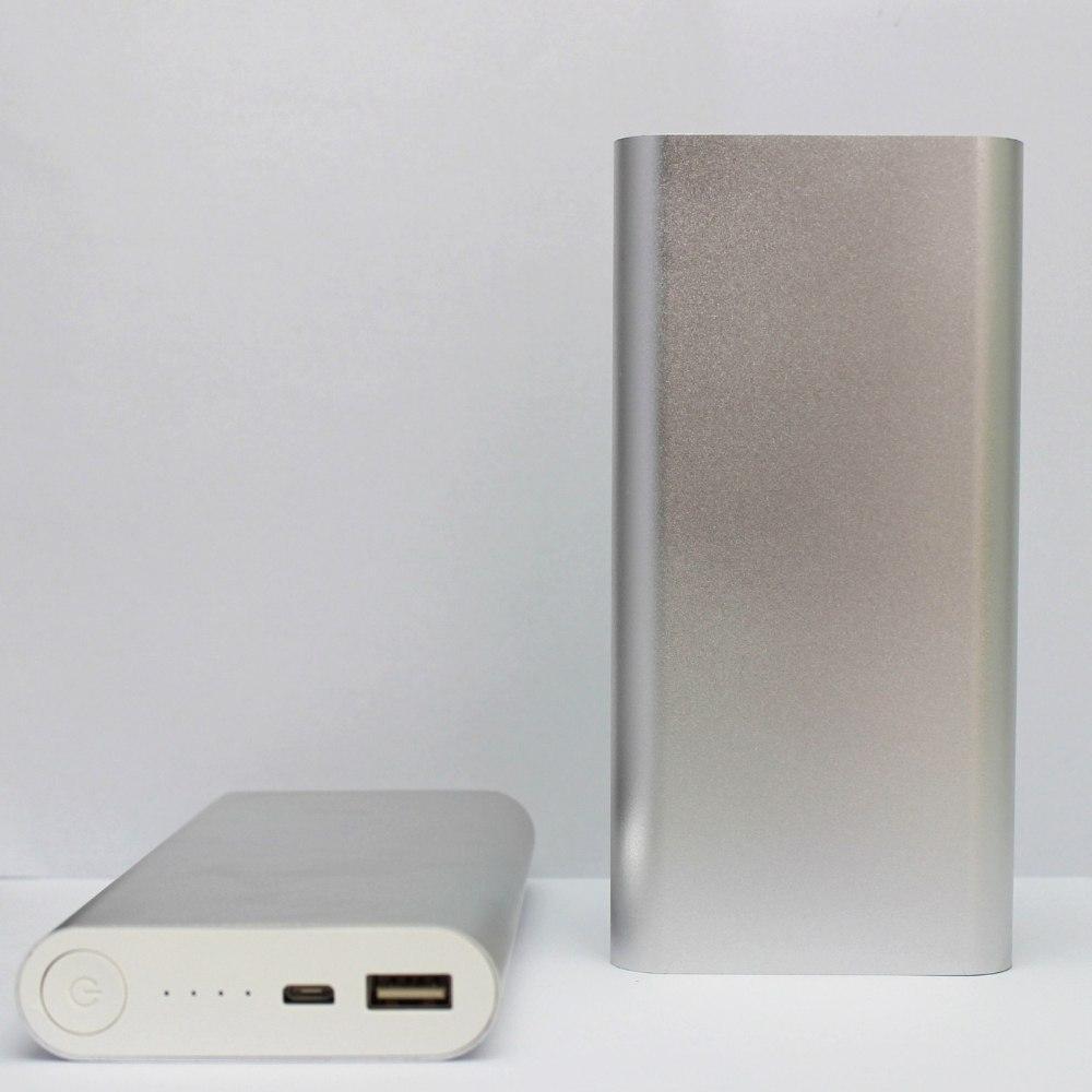 Портативное зарядное устройство беспроводная зарядка павербанк  power bank 20800 mAh серебристый