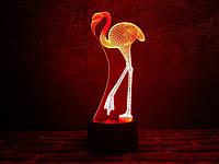 """Сменная пластина для 3D ночника """"Фламинго"""" 3DTOYSLAMP, фото 1"""