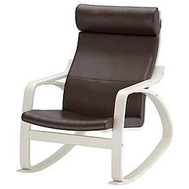 IKEA POANG (091.632.62) Крісло хитається, біле, Глянцева