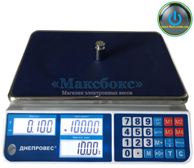 Торговые весы 15 кг Днепровес ВТД-СЛ1 (F902H-15CL1)
