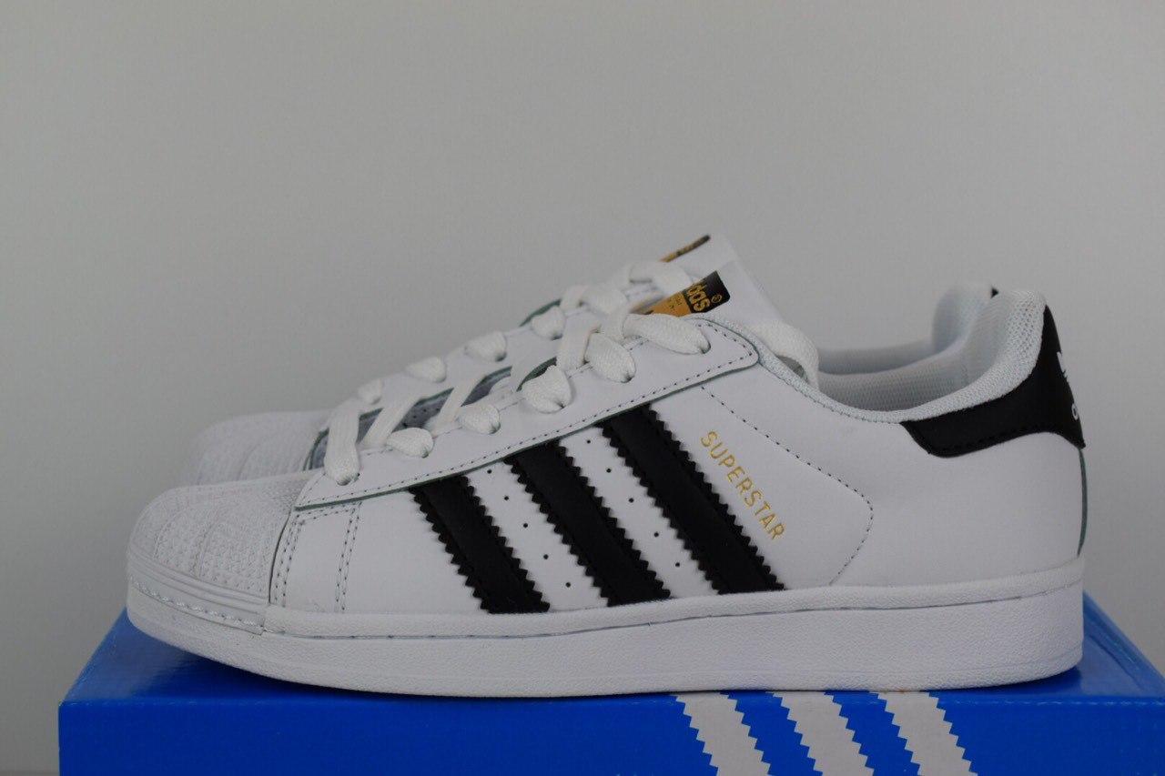 43a039fb Женские кеды Adidas SuperStar кожаные низкие качетсвенные молодежные  прошиты адидасы (белые), ТОП-реплика