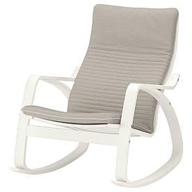 IKEA POANG (792.415.77) Качающийся стул, лиловый серый