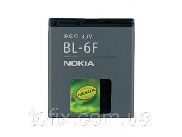 Батарея (АКБ, аккумулятор) BL-6F для телефонов Nokia, 1200 mAh, оригинал
