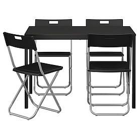 IKEA TARENDO / GUNDE (890.106.99) Стіл і 4 стільця, чорний