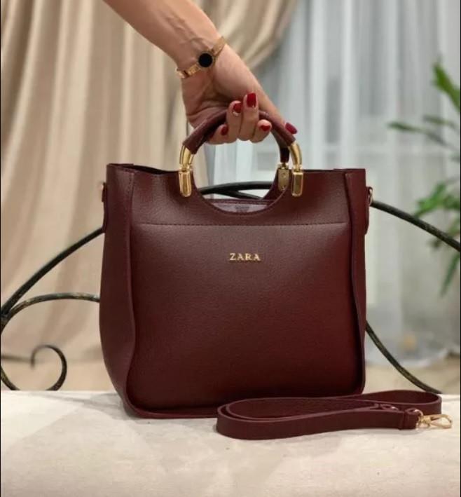 d4c8d92e196f Бордовая женская сумка Zara, цена 455 грн., купить в Киеве — Prom.ua ...