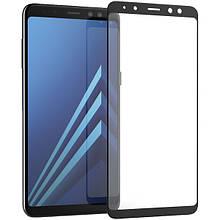Защитное стекло 5D Samsung A8+(2018)/A730 Чёрный