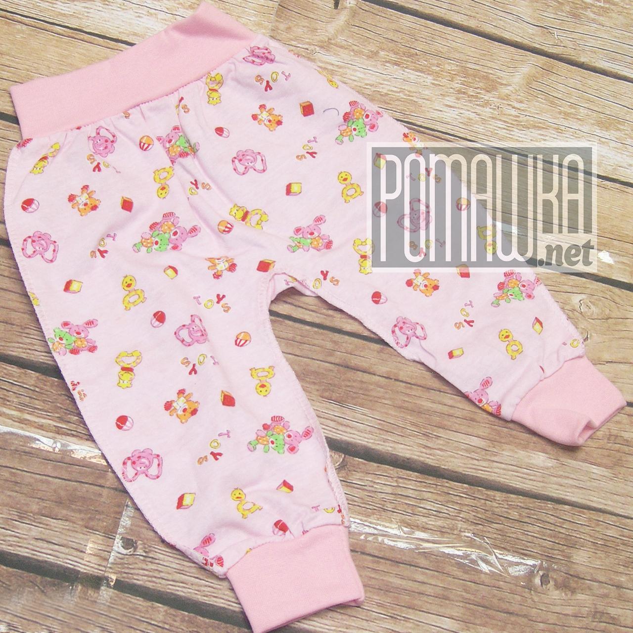 Детские тонкие штанишки р 62 (1 2 3 месяц) легкие для новорожденного наружные швы ткань КУЛИР 1045 Розовый А