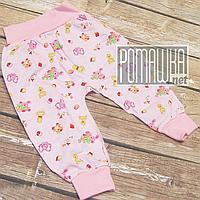 Детские тонкие штанишки р 62 (1 2 3 месяц) легкие для новорожденного наружные швы ткань КУЛИР 1045 Розовый А, фото 1