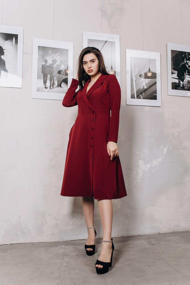 Платье миди на запах с карманами / 2 цвета арт 8404-613