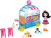 Набір Лялька Enchantimals Пріна Пінгвін Фургон з холодними ласощами Ice Cream Playset FKY58, фото 1