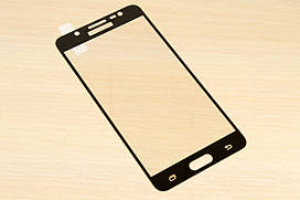 Защитное стекло Silk Screen для Samsung Galaxy J5 j510 2016 тех.пакет (Black)