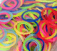 Резинки loom bands ШЕСТЕРЁНКИ разноцветные (200шт.)