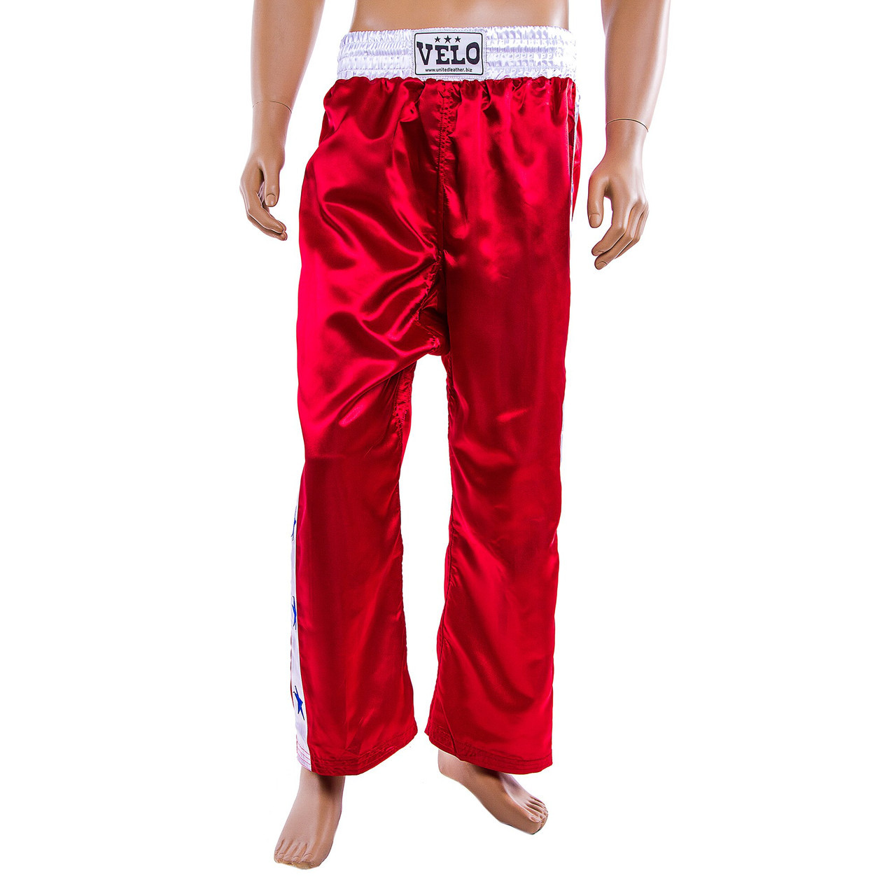 Штани для кікбоксингу Velo червоні 9016-M