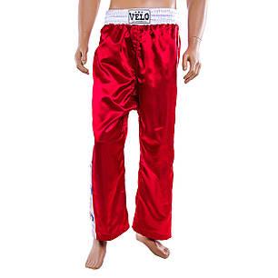 Штани для кікбоксингу Velo червоні 9016-M, фото 2