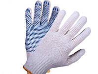 Перчатки трикотажные ПВХ точка, 7 класс вязки
