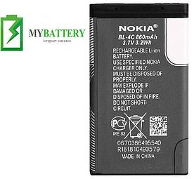 Оригинальный аккумулятор АКБ батарея для Nokia 2650/ 5100/ 6100/ 6101/ 6300/ 6131/ 6125/ BL-4C 860мAh 3.7V