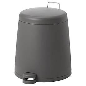 IKEA SNAPP (102.454.22) Сміттєвий бак, сірий