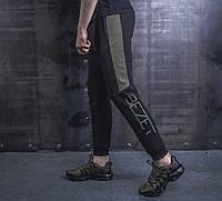 Спортивные штаны BEZET Freestyle black/khaki '19. Трикотаж, фото 1