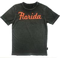 Серая футболка с надписью Florida, Tom Tailor, 1034105