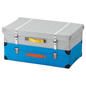 IKEA FLYTTBAR (003.288.37) Коробка для іграшок, бірюза