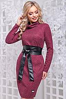 f1f68dcf74b 📌Элегантное красное платье с кожаным поясом   Размер M