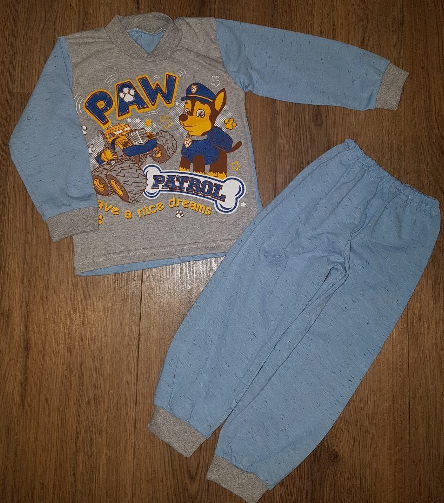 Пижама для мальчика голубого цвета с мультгероями Щенячего патруля 92-130 р
