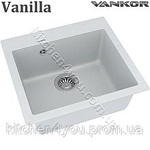 Гранітна мийка VANKOR Orman OMP 01.49 (485х450 мм.) + змішувач і доставка в подарунок!