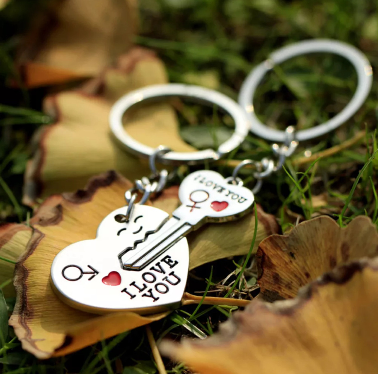 Брелок для ключей парный для влюбленных «I love you» романтичный подарок