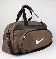 Качественная спортивная, дорожная сумка Nike 1325-3 коричневая уплотненная, фото 1