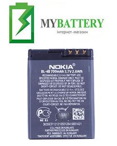 Оригинальный аккумулятор АКБ батарея для Nokia 2630/ 2660/ 2760/ 6111/ 7370/ 7373/ BL-4B 700мAh 3.7V