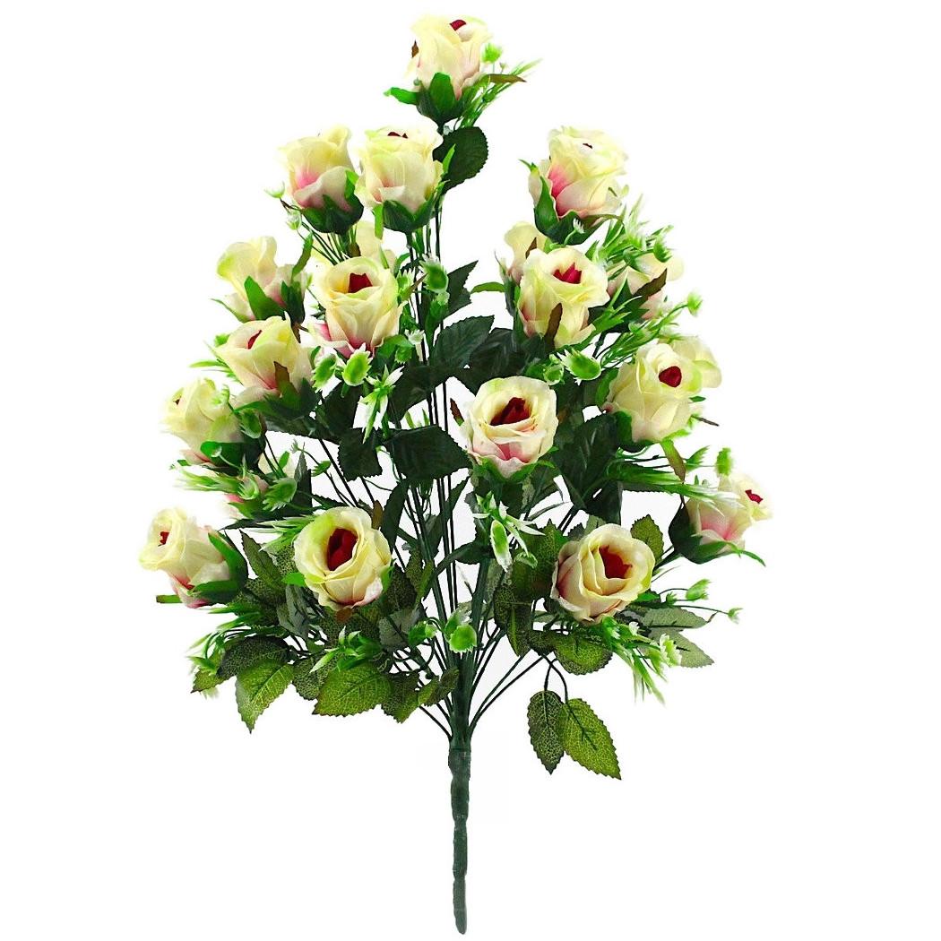 Искусственная роза бутон 24 головы 55 см