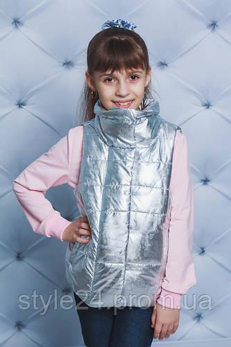 Весняна жилетка на синтепоні на дівчинку ростом 122-152  продажа ... bd995942cc348
