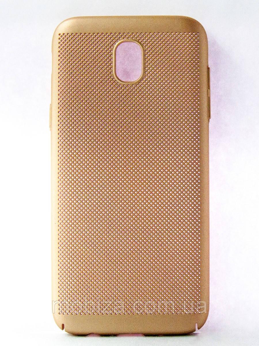 "Чехол-панель DENGOS (Back Cover) ""Сітка"" для телефону Samsung Galaxy J5 (J530) 2017, (gold)"