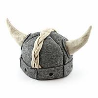 """Банная шапка Luxyart """"Викинг"""", искусственный фетр, серый (LA-470)"""