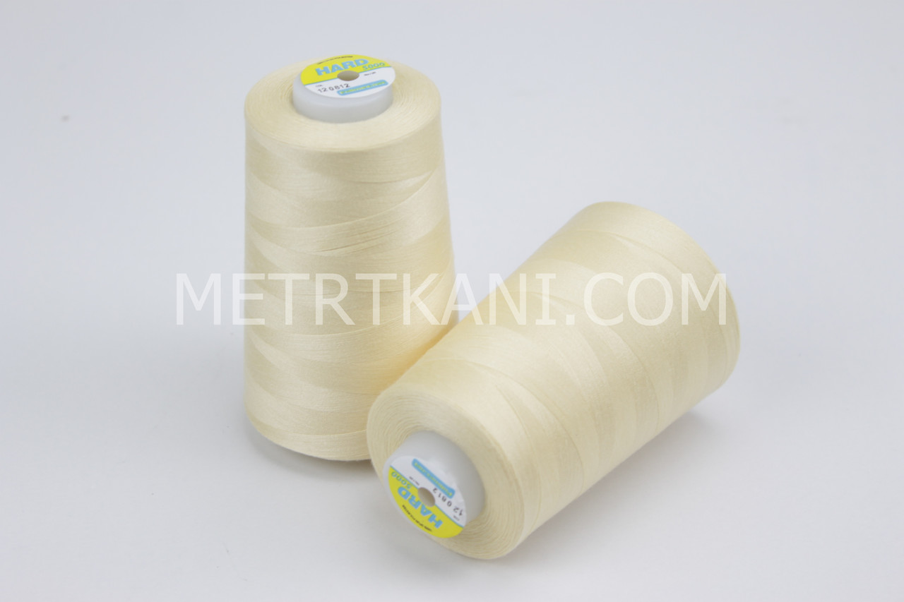 Нитки швейные 50/2  5000 ярдов,цвет кремовый № н201