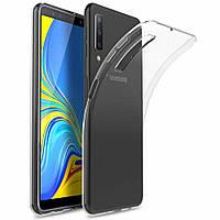 Прозрачный силиконовый чехол Samsung Galaxy A7 (2018)