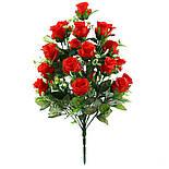 Искусственная роза бутон 24 головы 55 см, фото 4