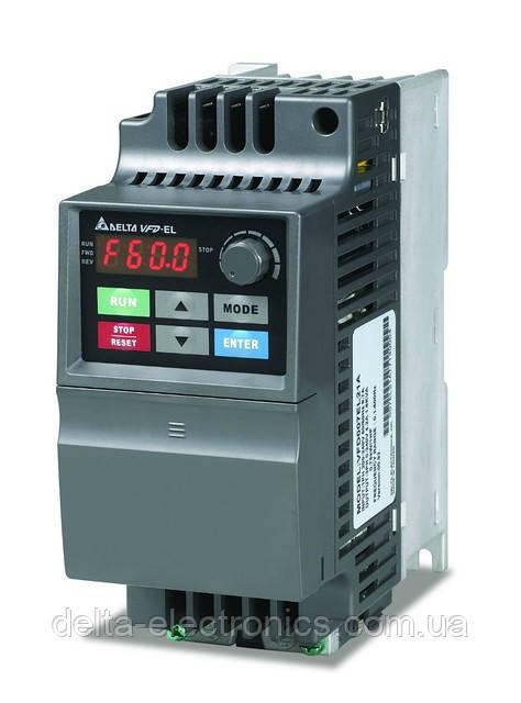 Преобразователь частоты Delta Electronics, 0,7 кВт, 230В,1ф.,скалярный,VFD007EL21A