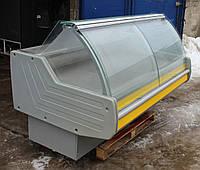 Холодильная витрина колбасная «Технохолод Джорджия» 2 м. (Украина), очень широкая выкладка 86 см, Б/у , фото 1