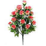 Искусственная роза бутон 24 головы 55 см, фото 5