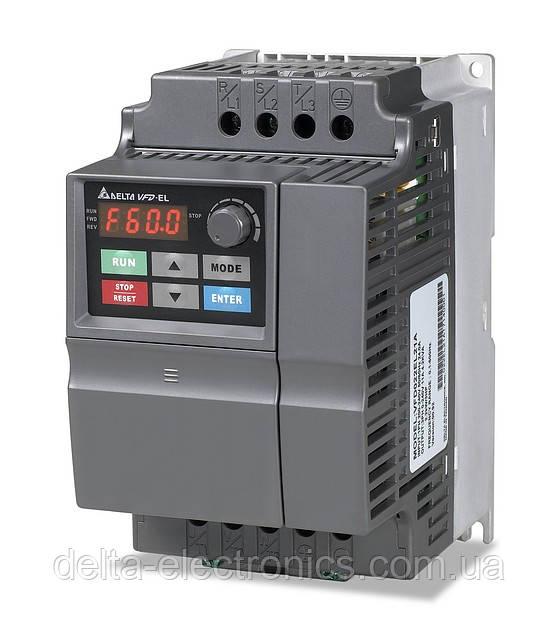 Преобразователь частоты Delta Electronics, 3,7 кВт, 460В,3ф.,скалярный,VFD037EL43A