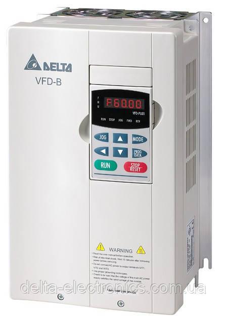 Перетворювач частоти Delta Electronics, 5,5 кВт, 460В,3ф.,векторний, загальнопромисловий,VFD055B43A