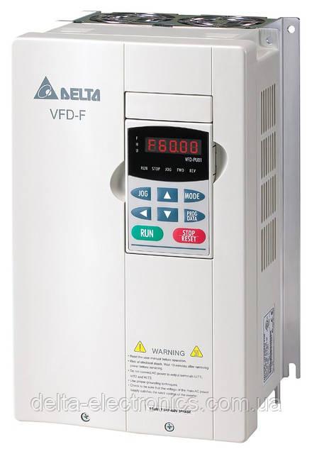 Преобразователь частоты Delta Electronics, 11 кВт, 460В,3ф.,cкалаярный,для насосов и вентиляторов,VFD110F43A