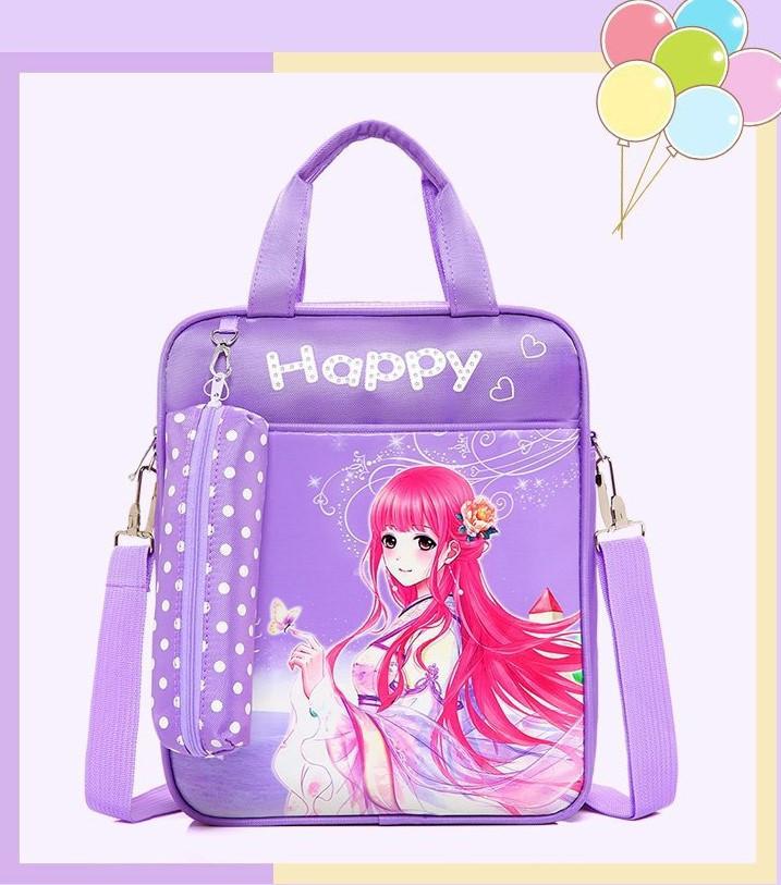 3b4c18bd2368 Рюкзак-сумка с пеналом для девочки фиолетовый, цена 405 грн., купить ...