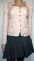 """Жакет """"Kriss"""" (Швеция) оригинального кроя из жатой тафты дымчато-розового цвета. Размер: 40 (M-L)."""