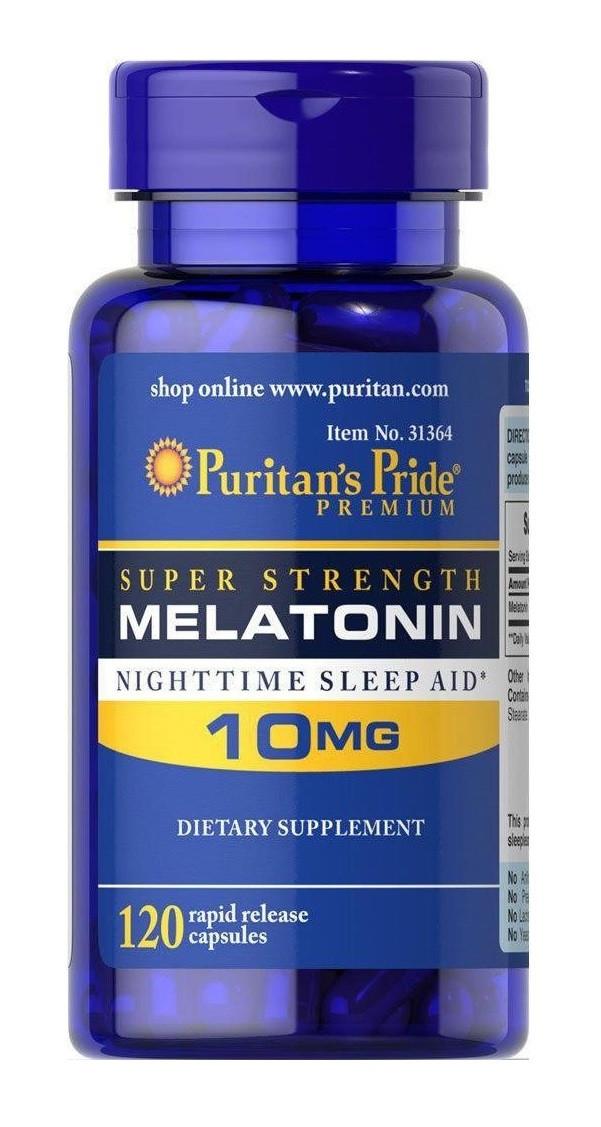 Мелатонин Puritan's Pride - Melatonin 10 мг (120 капсул)