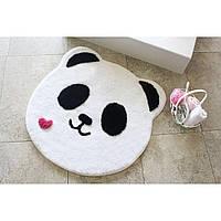 Круглый коврик для ванной Alessia пандочка с высоким ворсом 90*90